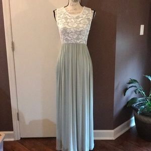 NWT Vanilla Bay Lace Top Maxi Dress